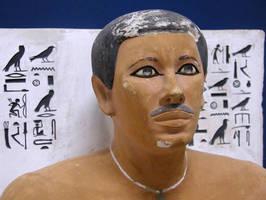 Rahotep, chef de l'armée (archers) et du matériel (le carquois)