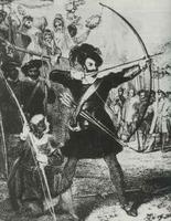 Le roi Henri VIII d'Angleterre pendant une compétition de tir à l'arc vers 1520